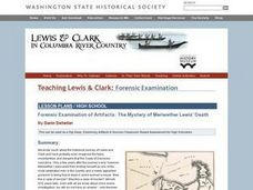 Forensic Examination of Artifacts: The Mystery of Meriwether Lewis' Death Lesson Plan