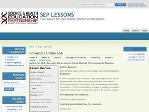 Forensics Crime Lab Lesson Plan