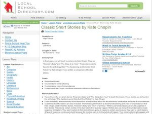 Foreshadowing and Situational Irony in Kate Chopin Short Stories Lesson Plan