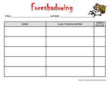 Printables Foreshadowing Worksheet foreshadowing worksheet imperialdesignstudio jpg1414061488