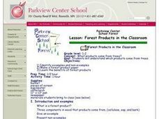 Forest Products in the Classroom Lesson Plan