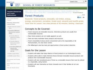Forest Products Lesson Plan