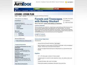 Forests and Treescapes with Romey Stuckart Worksheet