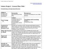 Formulating a Design Specification Lesson Plan