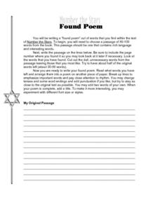 Worksheets Number The Stars Worksheets number the stars lesson plans worksheets reviewed by teachers found poem stars