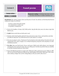 Found Poems Lesson Plan