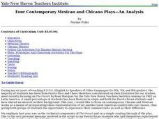 Four Contemporary Mexican and Chicano Plays-An Analysis Lesson Plan
