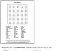 Four Wheeling Word Search Worksheet