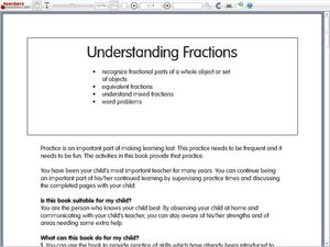 Fractional Parts of a Whole Worksheet