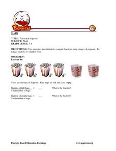 Fractional Popcorn Lesson Plan