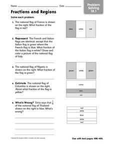 Fractions and Regions problem solving 18.1 Worksheet