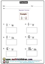 Fractions: Equivalent Fractions Worksheet