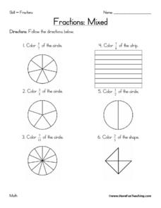 Fractions: Mixed Worksheet
