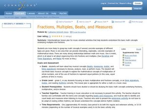 Fractions, Multiples, Beats, and Measures Lesson Plan
