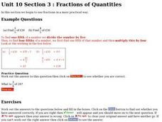 Fractions of Quantities Worksheet