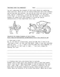 Fractured Fairy Tale Worksheet Lesson Plan