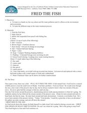 FRED the FISH Lesson Plan