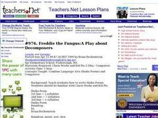 Freddie the Fungus:A Play about Decomposers (Elementary, Computer) Lesson Plan