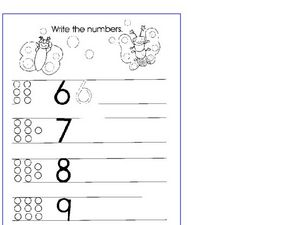 Free Counting -10 Worksheet
