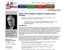 "Freedom by the Fireside: The Legacy of FDR's ""Four Freedoms"" Speech Lesson Plan"