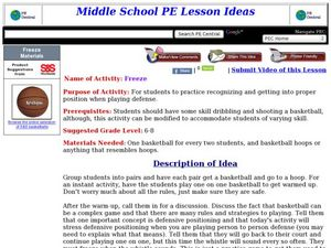 Freeze Lesson Plan