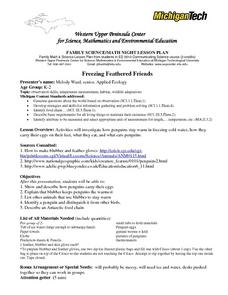 Freezing Feathered Friends Lesson Plan