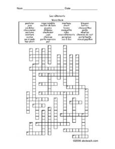 ... Clothing Crossword Puzzle 5th - 6th Grade Worksheet   Lesson Planet