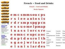 French ~ Food and Drinks Worksheet