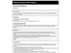 Frictionally Speaking Lesson Plan