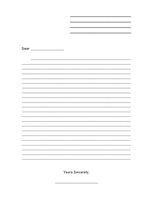 Friendly Letter Writing Paper Worksheet