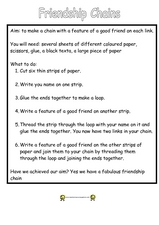 Friendship Chains Worksheet