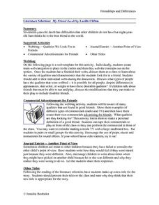 Friendships and Differences Lesson Plan
