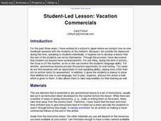 Fritsch - Student-Led Lesson: Vacation Commercials (I-TESL-J)The Internet TESL Journal Lesson Plan