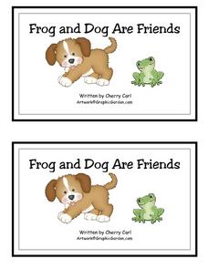 Frog and Dog Are Friends Worksheet