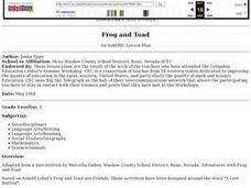 Frog and Toad Lesson Plan