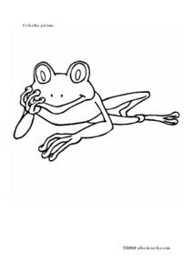 Frog Coloring Sheet Worksheet