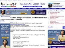 Frogs and Toads Are Different Lesson Plan