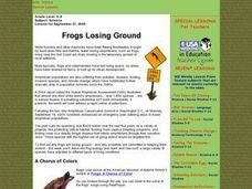 Frogs Losing Ground Lesson Plan