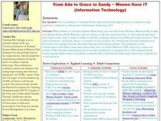 From Ada to Grace to Sandy-Women Have IT Lesson Plan