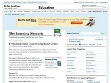 From Basketball Court to Supreme Court Lesson Plan