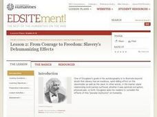 From Courage to Freedom: Slavery's Dehumanizing Effects Lesson Plan
