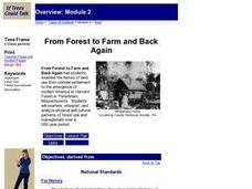 From Forest to Farm and Back Again Lesson Plan