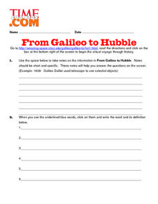 From Galileo to Hubble Lesson Plan