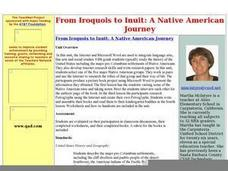 From Iroquois to Inuit: A Native American Journey Worksheet