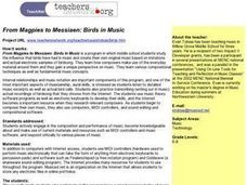 From Magpies to Messiaen: Birds in Music Lesson Plan