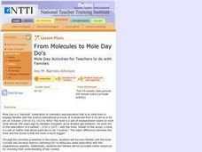 From Molecules to Mole Day Do's Lesson Plan
