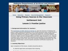 Frontier Justice Lesson Plan
