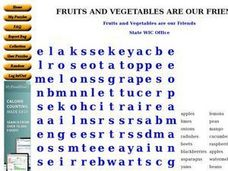 Fruits and Vegetables are our Friends Worksheet