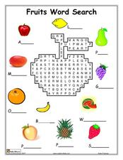 Fruits Word Search Lesson Plan