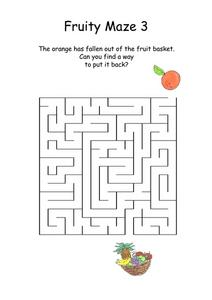 FRUITY MAZE 3 Worksheet